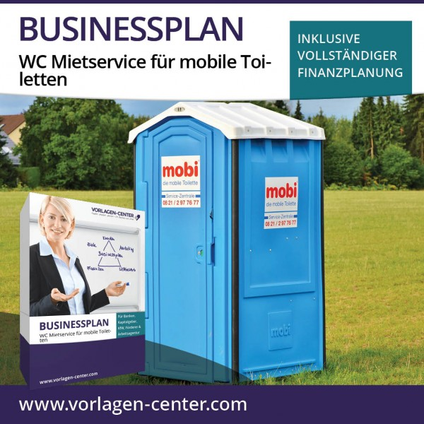 Businessplan-Paket WC Mietservice für mobile Toiletten