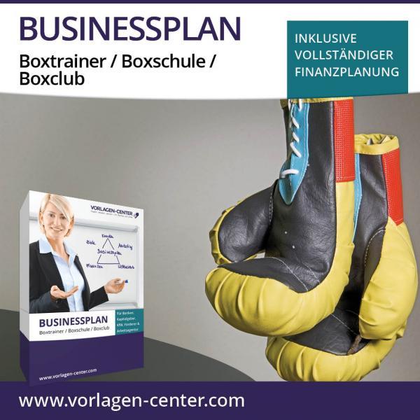 Businessplan-Paket Boxtrainer / Boxschule / Boxclub
