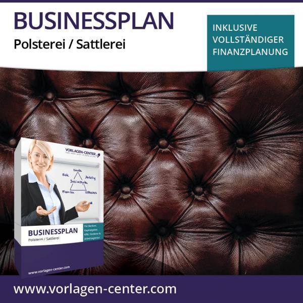 Businessplan-Paket Polsterei / Sattlerei