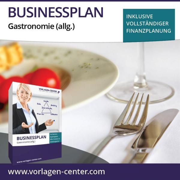Businessplan-Paket Gastronomie (allg.)