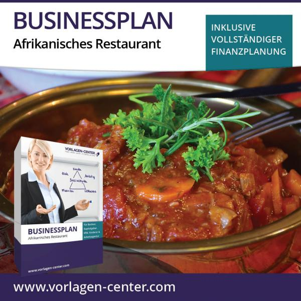 Businessplan-Paket Afrikanisches Restaurant