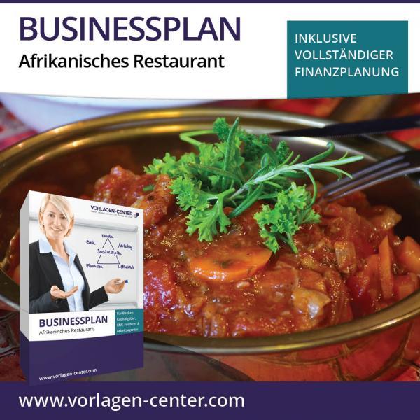 Businessplan-Paket Afrikanisches Restaurant