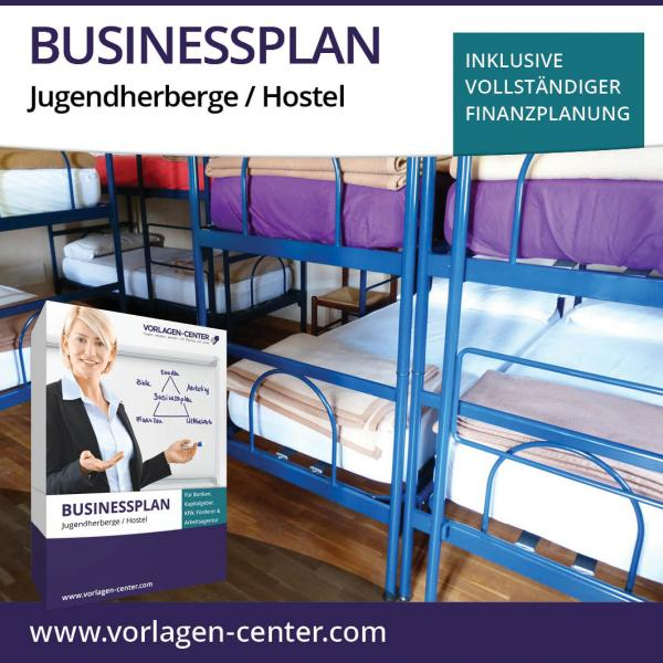 Businessplan-Paket Jugendherberge / Hostel