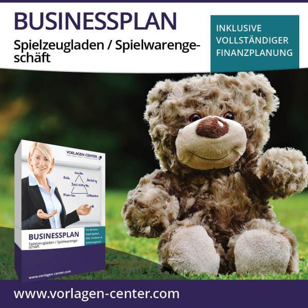 Businessplan-Paket Spielzeugladen / Spielwarengeschäft