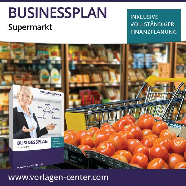 Businessplan-Paket Supermarkt