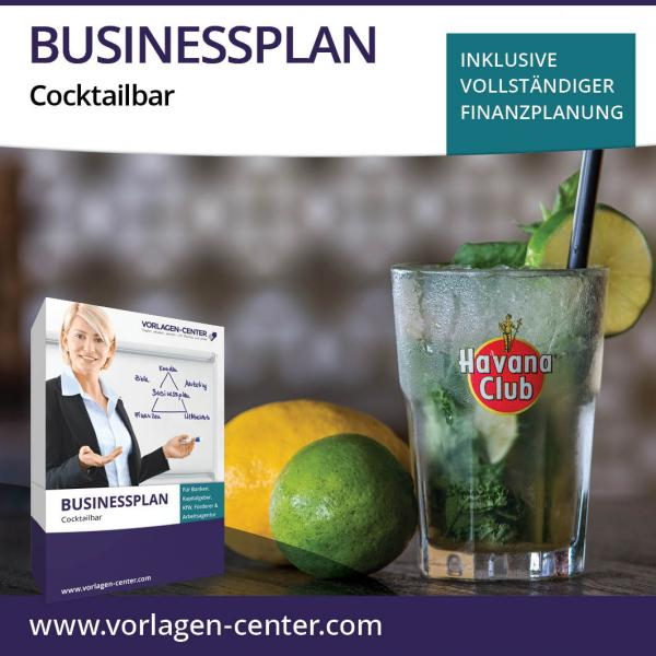 Businessplan-Paket Cocktailbar
